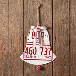 License Plate Holiday Bell - Countryside Home Decor