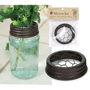 Mason Jar Chicken Wire Flower Frog Lid - Box of 6 - Countryside Home Decor