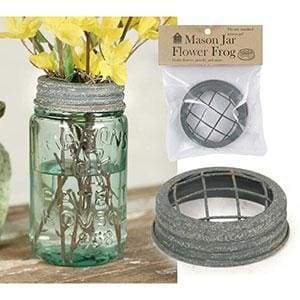 Mason Jar Flower Frog Lid - Barn Roof - Box of 6 - Countryside Home Decor