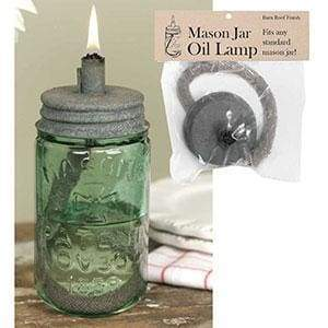 Mason Jar Oil Lamp Lid - Barn Roof - Box of 4 - Countryside Home Decor