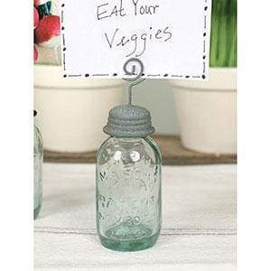 Mason Jar Place Card Holder - Box of 4 - Countryside Home Decor