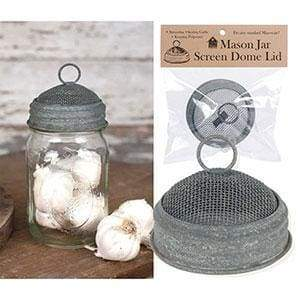 Mason Jar Screen Dome Lid - Barn Roof - Box of 6 - Countryside Home Decor