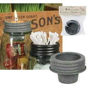 Mason Jar Tapered Cup Lid - Barn Roof - Box of 4 - Countryside Home Decor