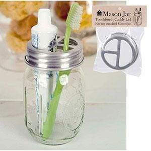 Mason Jar Toothbrush Holder - Box of 4 - Countryside Home Decor