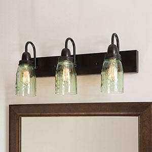 Mason Jar Vanity Lamp - Countryside Home Decor