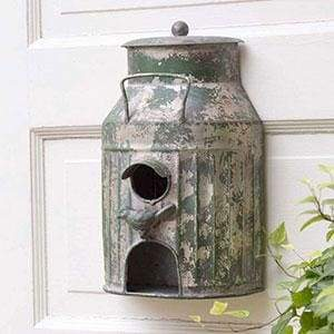 Milk Can Birdhouse - Countryside Home Decor