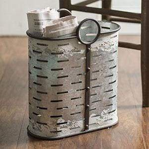 Oblong Perforated Container - Countryside Home Decor