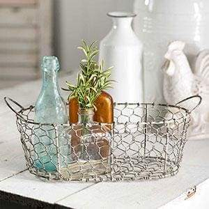 Oval Chicken Wire Basket with Handles - Countryside Home Decor