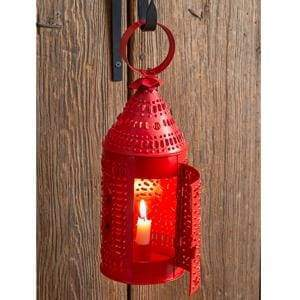 Paul Revere Candle Lantern - Red - Countryside Home Decor
