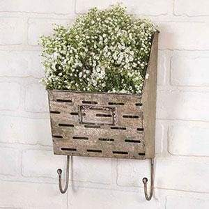 Perforated Wall Caddy with Hooks - Countryside Home Decor