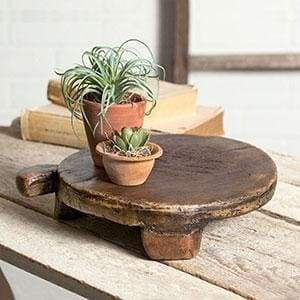 Primitive Round Breadboard - Countryside Home Decor