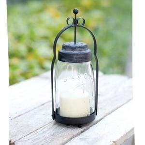 Quart Mason Jar Butler Lantern - Black - Countryside Home Decor