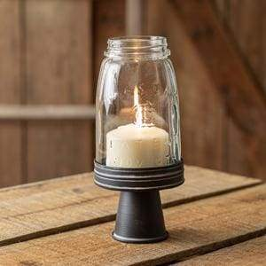 Quart Mason Jar Chimney with Stand - Black - Countryside Home Decor