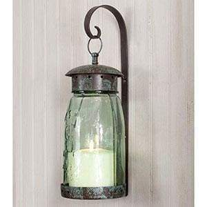 Quart Mason Jar Hanging Wall Sconce - Countryside Home Decor