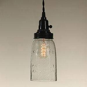 Quart Open Bottom Mason Jar Pendant Lamp - Countryside Home Decor