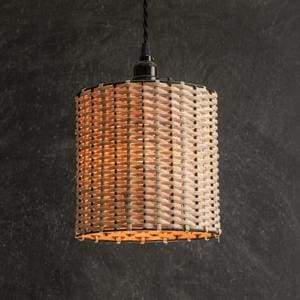 Rattan Drum Pendant Lamp - Countryside Home Decor