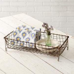 Rectangular Wire Basket - Countryside Home Decor