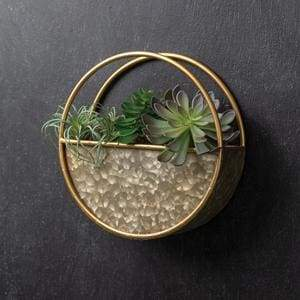 Round Metal Wall Pocket - Countryside Home Decor