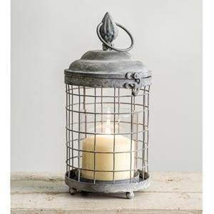 Rounded Cage Lantern - Countryside Home Decor