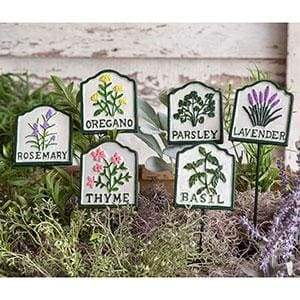 Set of Six Herb Garden Plant Stakes - Countryside Home Decor