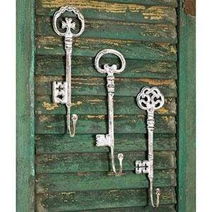 Set of Three Oversize Key Hooks - Countryside Home Decor