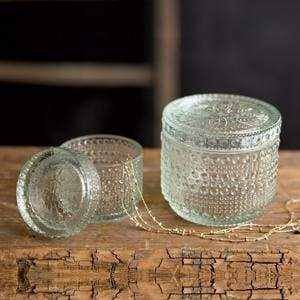 Set of Two Decorative Glass Jars - Countryside Home Decor