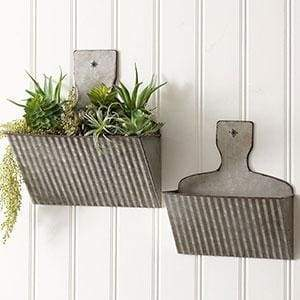 Set of Two Dust Pan Wall Pockets - Countryside Home Decor