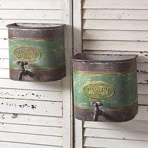 Set of Two Garden Faucet Wall Bins - Countryside Home Decor