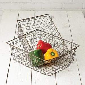 Set of Two Storage Wire Baskets - Countryside Home Decor