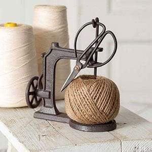 Sewing Machine Twine Holder with Scissors - Countryside Home Decor