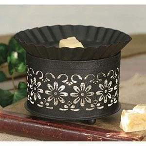 Short Round Wax Warmer - Daisy with Screen Insert - Countryside Home Decor