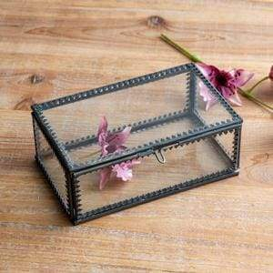 Small Glass Trinket Box - Countryside Home Decor
