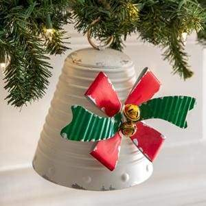 Small Holiday Bow Bell - Countryside Home Decor