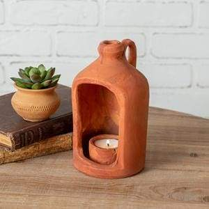 Small Terra Cotta Tea Light Holder - Countryside Home Decor