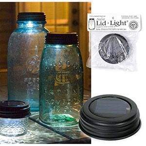 Solar Lid Light - Rustic Brown - Box of 4 - Countryside Home Decor