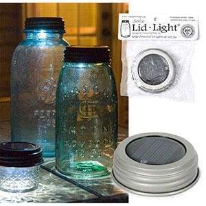 Solar Lid Light - Silver - Box of 4 - Countryside Home Decor