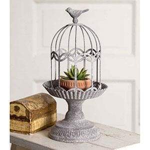 Songbird Gazebo Cloche with Base - Countryside Home Decor