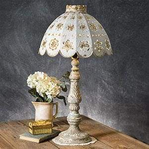 Table Lamp with Decorative Metal Shade - Countryside Home Decor