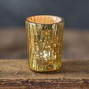 Tapered Textured Mercury Glass Votive Holder - Box of 4 - Countryside Home Decor