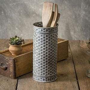 Textured Medium Canister - Countryside Home Decor