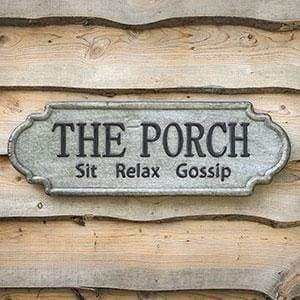 The Porch Metal Sign - Countryside Home Decor