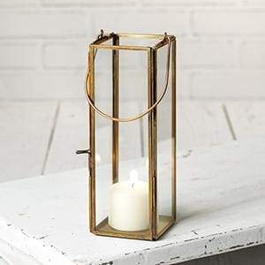 Thin Hayworth Lantern - Antique Brass - Countryside Home Decor