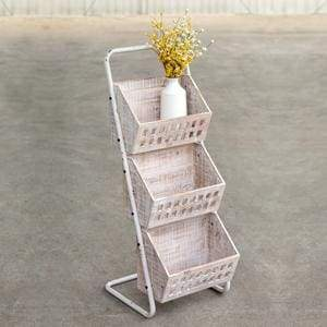 Three Bin Wood Organizer - Countryside Home Decor