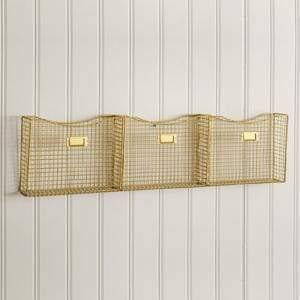 Three Pocket Wall Organizer - Countryside Home Decor