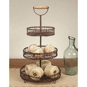Three Tier Stand with Handle - Countryside Home Decor