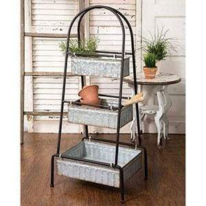 Three Tier Tall Floor Display - Countryside Home Decor