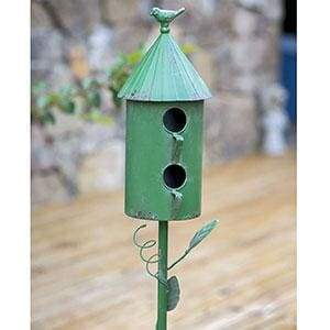 Two Story Morning Glory Birdhouse Garden Stake - Countryside Home Decor