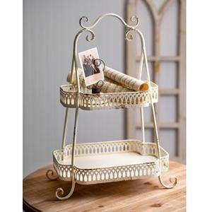 Two-Tier Chantilly Tray - Countryside Home Decor