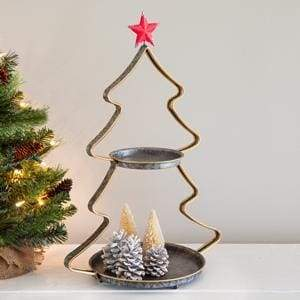 Two-Tier Christmas Tree Tray - Countryside Home Decor