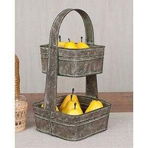 Two-Tier Square Tote - Countryside Home Decor